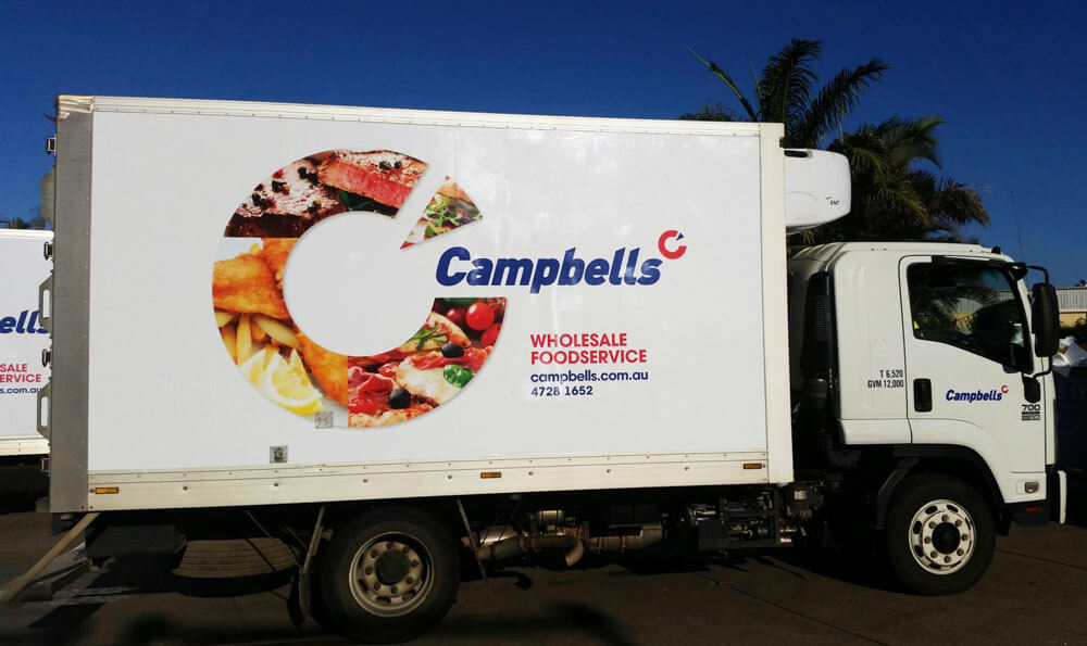 campbells truck wrapped in truckskin graphic