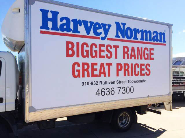 harvey normal truck wrapped in truckskin graphic