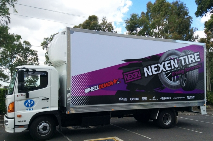 Nexen Tire truck wrapped in truckskin graphic