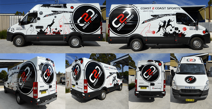 C2c Van with vinyl wrap
