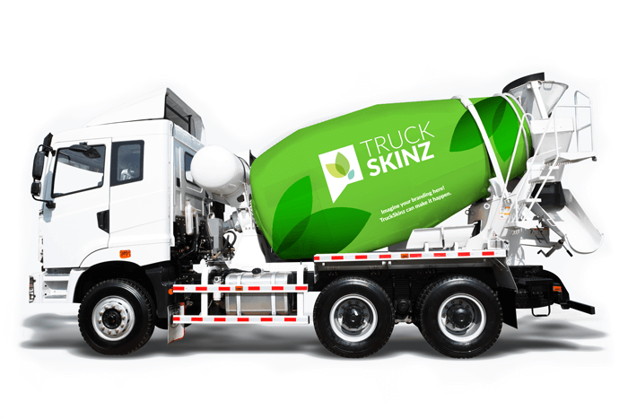 truckskinz branded cement mixer