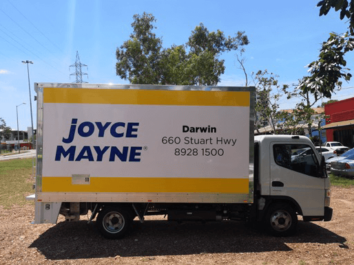 joyce mayne truck wrapped in truckskin graphic