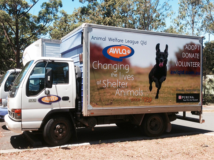 awl truck with truckskinz advertising wrap application